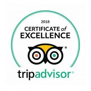 Certificate of Excellence 2018 - Tripadvisor
