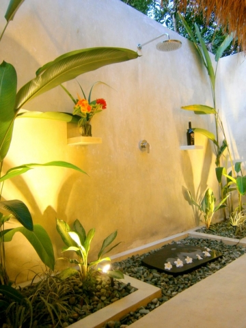 Your Bathroom by Night Villa Nangka Gili Air