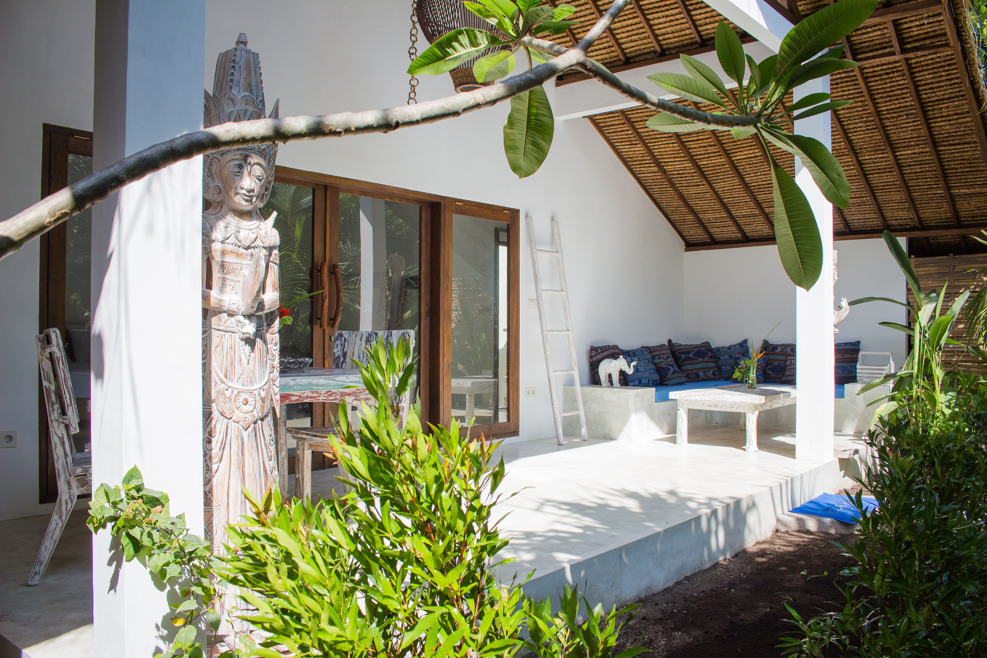 Private Spacious Terrace Overlooking the Swimming Pool Villa Nangka