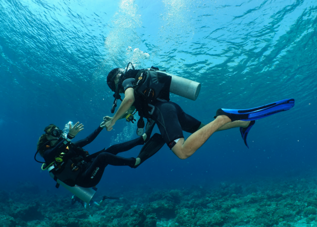 Learning how to dive on the Gili islands