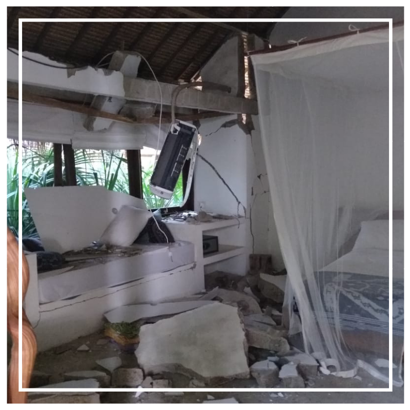 Villa Nangka hit by earthquake in August 2018