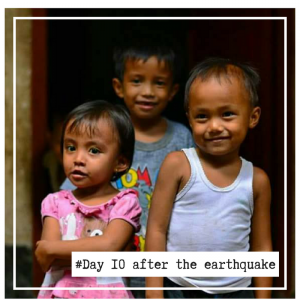 Day 10 after the earthquake in Lombok August 2018