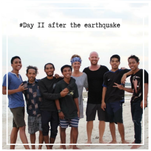 daily blog about the earthquake in Lombok