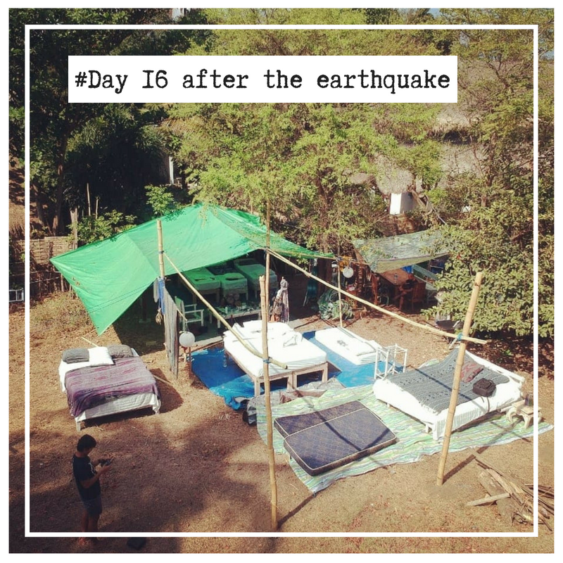 Camp on Gili Air build after the earthquake