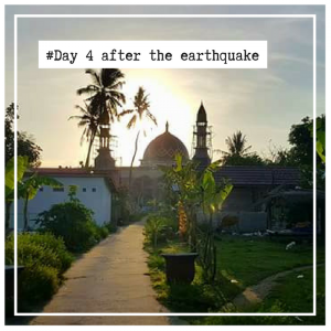 blog about the earthquake in Lombok