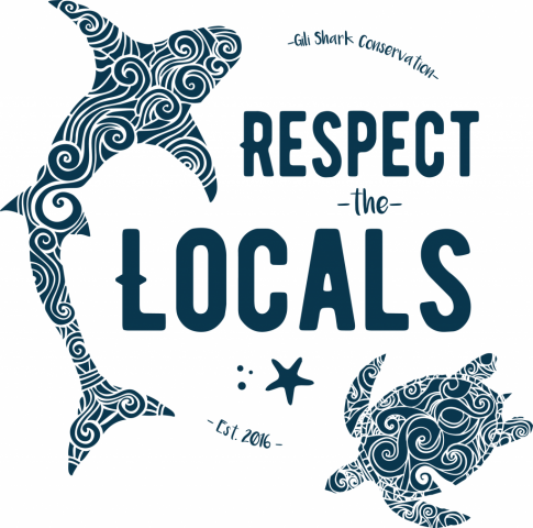 Logo Respect the Locals Gili Shark Conservation