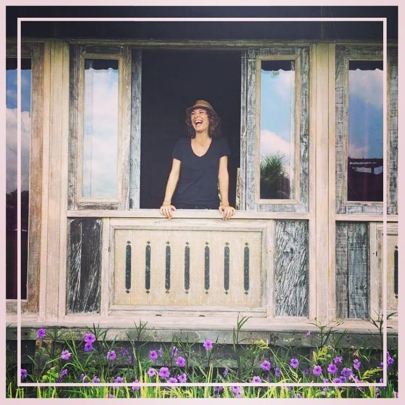 Girl in Joglo House