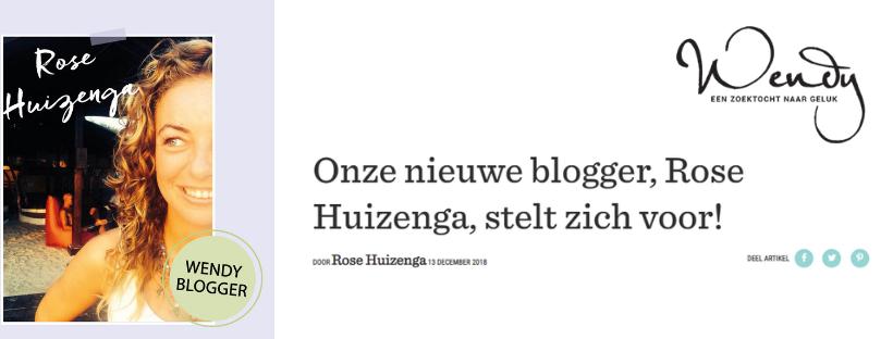 Cover Blog Rose Huizenga for Wendy Online Magazine