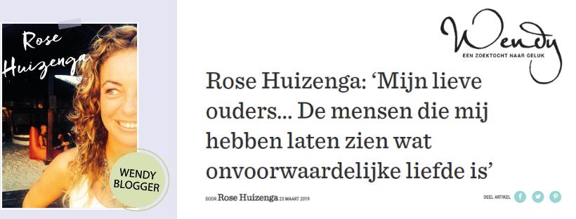Cover van de  Blog van Rose Huizenga voor Wendy Magazine