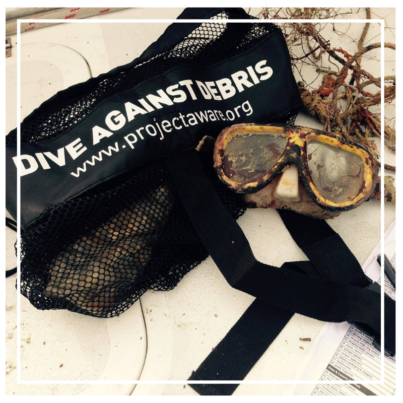 Dive against debris on the Gili Islands