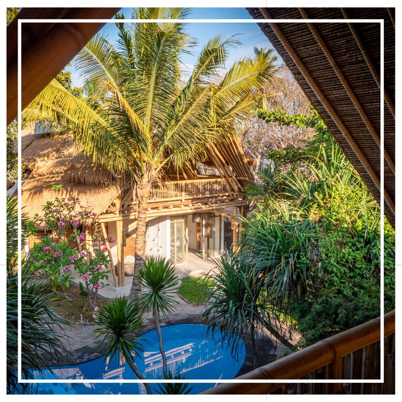 Spacious 2bedroom Designer Villa On Gili Air Made From Bamboo